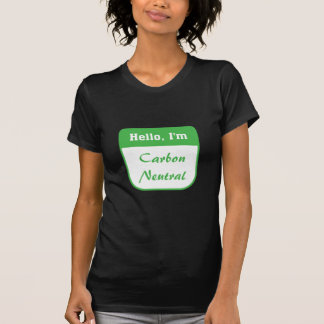 I'm carbon neutral women's t-shirt (dark)