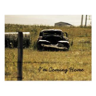 I'm Coming Home, rustic rural hip Postcard Postcard