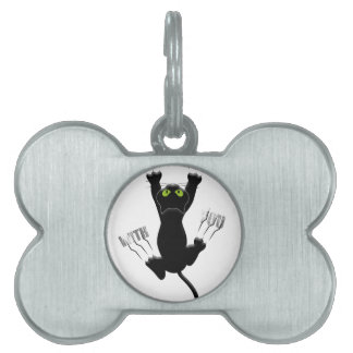 Im Coming With You Cat Kitten Funny Cute Pet Name Tag