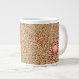 I'm Crabby in the Sand Large Coffee Mug