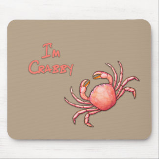 I'm Crabby Mouse Mat