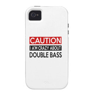 I'M CRAZY ABOUT DOUBLE BASS iPhone 4 COVERS