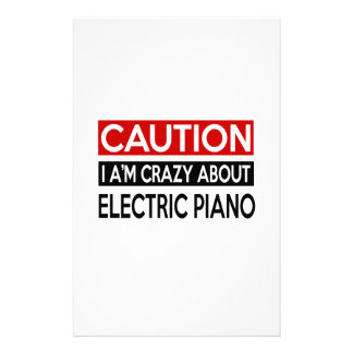 I'M CRAZY ABOUT ELECTRIC PIANO PERSONALIZED STATIONERY