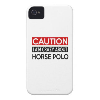 I'M CRAZY ABOUT HORSE POLO iPhone 4 COVERS