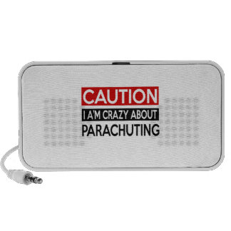 I'M CRAZY ABOUT PARACHUTING TRAVELLING SPEAKERS