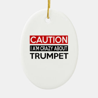 I'M CRAZY ABOUT TRUMPET CERAMIC OVAL DECORATION