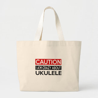I'M CRAZY ABOUT UKULELE JUMBO TOTE BAG