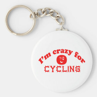 I'm crazy for Cycling. Key Chains