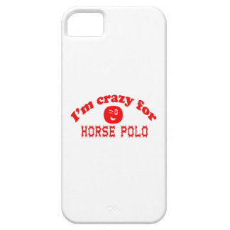 I'm crazy for Horse polo. iPhone 5 Case