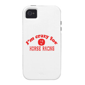 I'm crazy for Horse Racing. iPhone 4 Covers