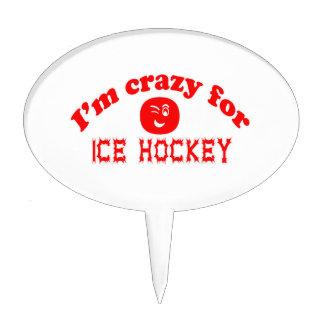 I'm crazy for Ice Hockey. Cake Topper
