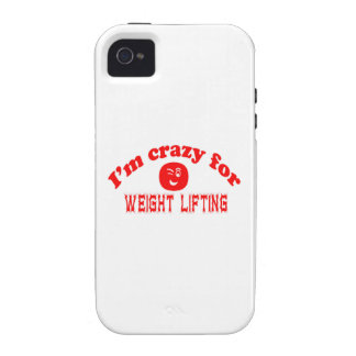I'm crazy for Weight Lifting. Vibe iPhone 4 Covers