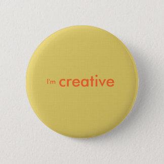 """""""I'm creative"""" 6 Cm Round Badge"""
