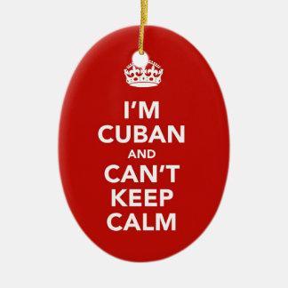 I'm Cuban and I can't Keep Calm Ceramic Oval Decoration