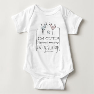 I'm Cute, Daddy's Lucky Funny Baby T-Shirt