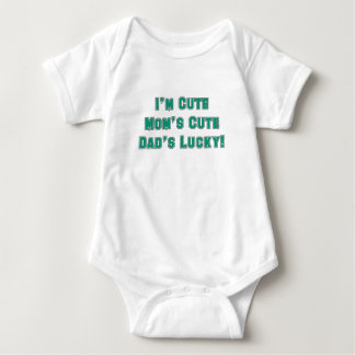 IM CUTE MOMS CUTE DADS LUCKY blue sport.png Baby Bodysuit