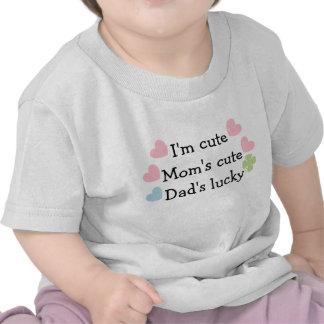 I'm Cute, Mum's Cute, Dad's Lucky! Infant T-Shirt