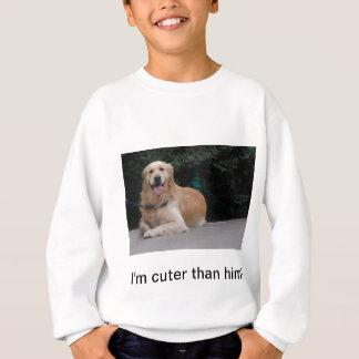 I'm cuter than him! - Golden Retriever Apparel T Shirt