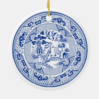 I'm Dreaming of a (Blue &) White Christmas Christmas Ornament