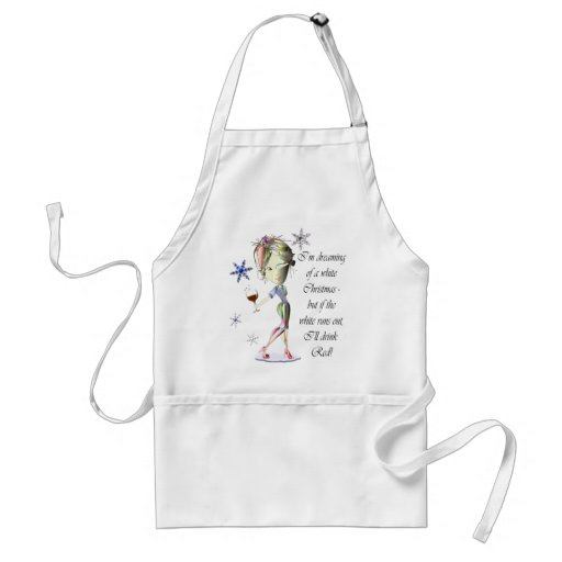 I'm dreaming of a white Christmas, funny gifts Apron