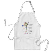 I'm dreaming of a white Christmas, Funny Wine Gift Aprons
