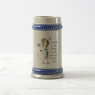 I'm dreaming of a white Christmas, Funny Wine Gift Beer Stein