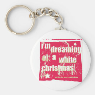 I'm dreaming of a white Christmas Key Ring