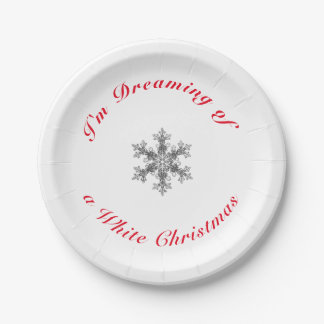 I'm Dreaming of a White Christmas Paper Plate