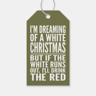 I'm Dreaming of a White or Red Wine Christmas Gift Tags