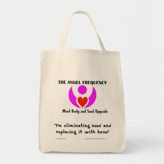 """""""I'm eliminating need ... Grocery Tote Bag"""