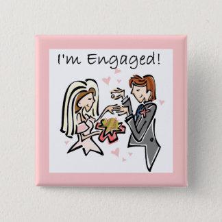 I'm Engaged 15 Cm Square Badge
