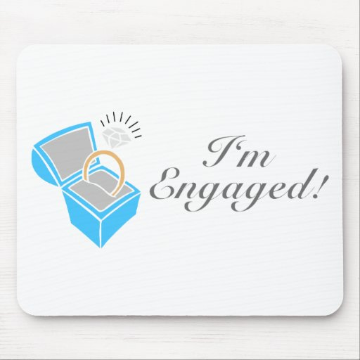 I'm Engaged (Diamond Engagement Ring Box) Mouse Pads