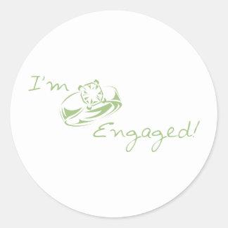 I'm  Engaged (Green Diamond Ring) Stickers