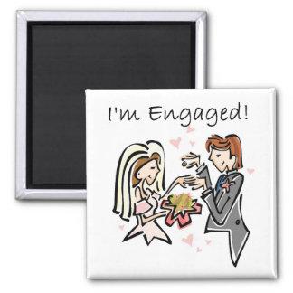 I'm Engaged Fridge Magnet