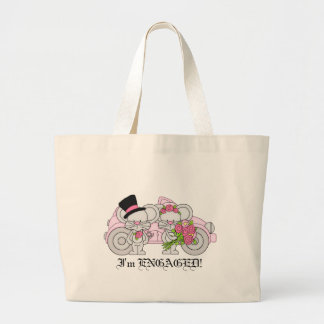 I'm Engaged mouse tote bag