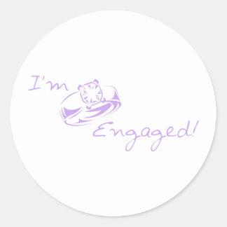 I'm Engaged (Purple Diamond Ring) Stickers
