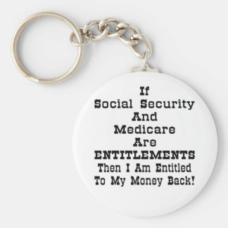 I'm Entitled To My Money Back Basic Round Button Key Ring