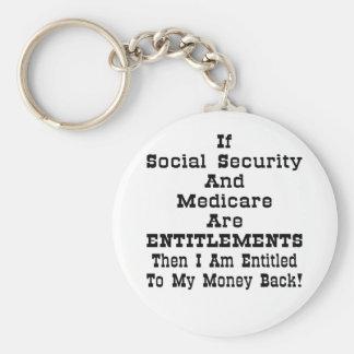 I'm Entitled To My Money Back Key Chain