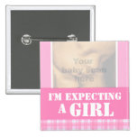 I'm expecting a girl ultra 3D scan pink badge