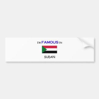 I'm Famous In SUDAN Bumper Stickers