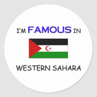 I'm Famous In WESTERN SAHARA Stickers