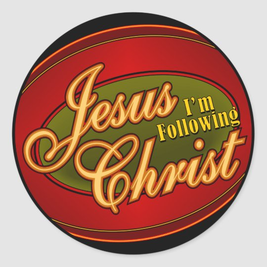 I'm Following Jesus Christ Classic Round Sticker