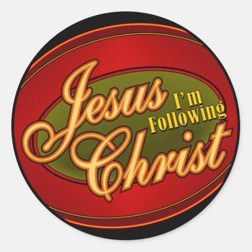 I'm Following Jesus Christ Round Stickers