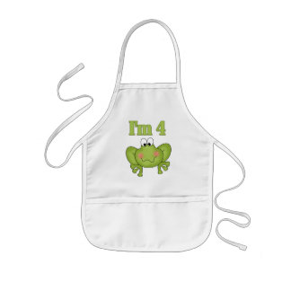I'm Four Frog Tshirts and Gifts Kids' Apron