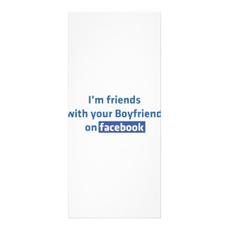 I'm friends with your boyfriend on facebook full color rack card