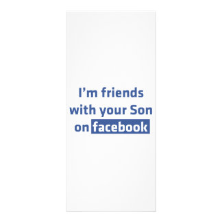 I'm friends with your son on facebook. rack cards
