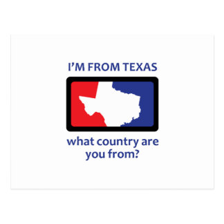 IM FROM TEXAS POSTCARD