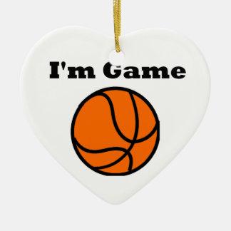 I'm Game (Basketball) Ceramic Heart Decoration