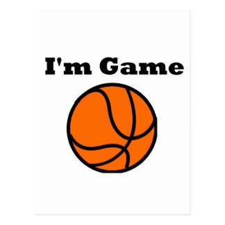 I'm Game (Basketball) Postcard