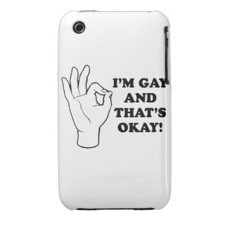 I'm Gay, and that's Okay. iPhone 3 Case-Mate Cases